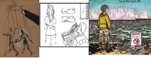 """התערוכה לציון שנה למתקפת הטרור על המגזין הסאטירי """"שארלי הבדו"""""""