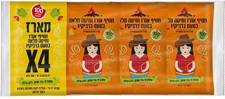 מארז חטיפי אורז וחיטה מלאה בטעם ברביקיו חלי-ממן מחיר 12שח