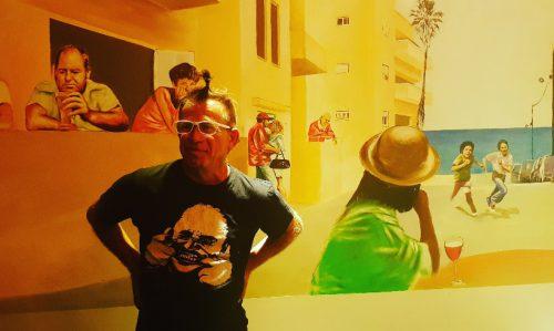 רמי המאירי, בציור קיר ראליסטי מעורר השראה אשר נחשף במסעדת BOOST FM