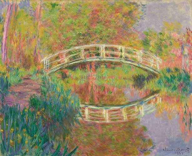 קלוד מונה, גשר יפני, ז'יברני, 1895