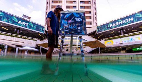 אמנות בבריכה - אמני WILD PLASTIC בגן העיר. צילום - טל אברבנל (3)