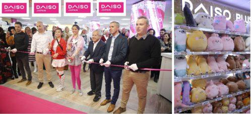 טקס גזירת הסרט, באירוע השקת חנות הרשת בקניון לב המפרץ הסימול daiso israel