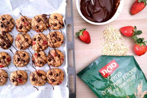 מתכון לעוגיות, סוגת,מתכון לעוגיות עוגיות שיבולת שועל, שוקולד ופירות,אורי שביט, המלצמה של רות